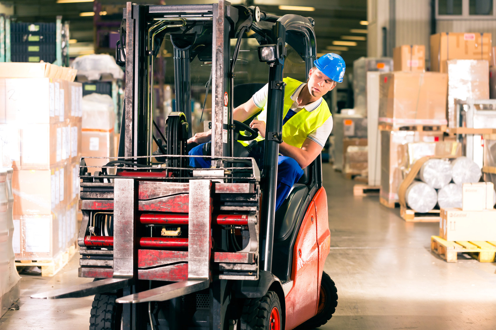 Training for forklift truck drivers